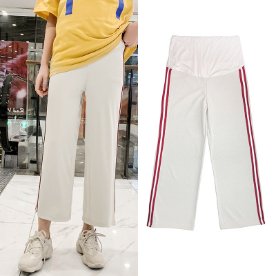 New summer wide leg pants for women with wide legs, vertical slats on the side