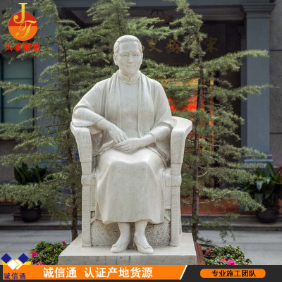 Manufacturers supply sunset red stone its western figure its riding generals historical celebrities support custom - made statues