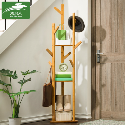 Wooden furniture simple clothes rack simple modern clothes rack to receive rack