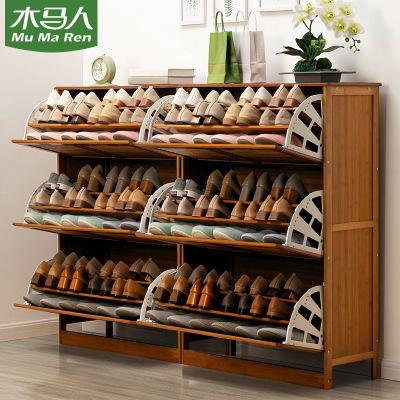 Trojan man shoe shelf multi-layer door shoe cabinet household simple and economical storage rack solid wood dustproof typhoon report