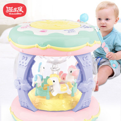 Multi - functional rechargeable carousel electric paipai drum wholesale 0-3 year old chenghai educational toys hand clap drum