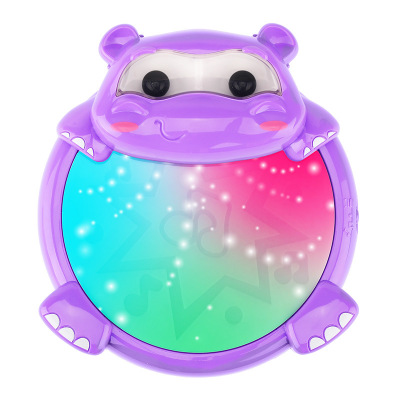 Yuan le bao baby clap electric hippo hand clap drum early education music game 0-1 year old children's toys