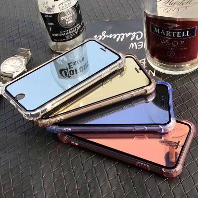 适用于iPhoneXR 6.5寸电镀镜面钢化膜iphoneXs 镜子膜苹果8plus