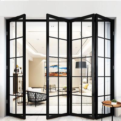 厂家客厅铝合金折叠门 断桥铝门窗室内重型隔热玻璃大折叠门定制