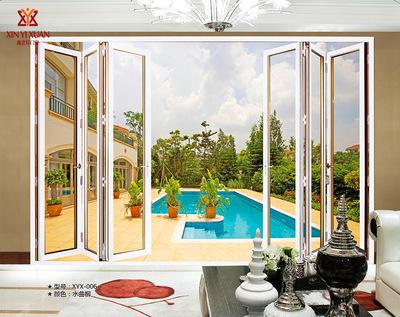 佛山门窗阳台客厅卧室玻璃防盗隔音欧式现代风格铝合金折叠门定制
