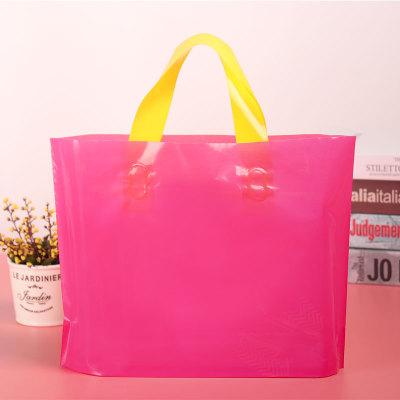 玫红色pe塑料服装手提袋定制印logo女装店购物袋礼品包装袋定做