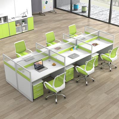 职员办公桌子简约现代办公家具电脑桌46人位员工桌椅组合屏风卡座