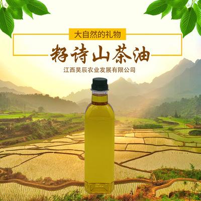 厂家直销 江西山茶油 合作社山茶籽油 茶油食用油500ml 一件代发
