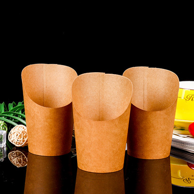 Customized creative thickening cup disposable special kraft paper environmental protection chicken package ice cream advertising paper cup