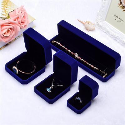 Blue fashion jewelry box custom wholesale marriage proposal ring box jewelry box pendant