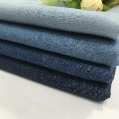 4.5oz cotton denim 32 plain cotton denim fabric thin dress fabric children's wear