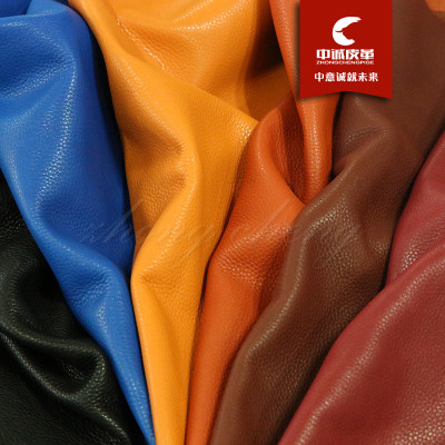 Hot style spot direct selling oil wax litchi grain head layer cattle leather sofa shoes bag fabric leather soft cover material