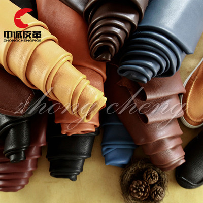 Zhongcheng spot direct selling oil and wax natural litchi grain head layer cattle leather whole piece of leather soft package leather shoes fabric