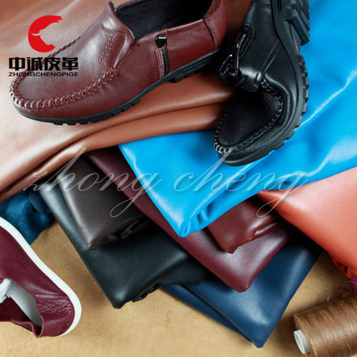 Zhongcheng cattle leather head layer cattle leather oil wax falling grain leather leather material package shoes fabric wholesale spot