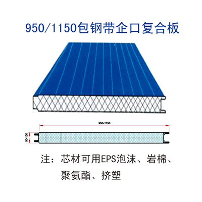 950/1150 clad steel strip tongue-and-groove composite plate