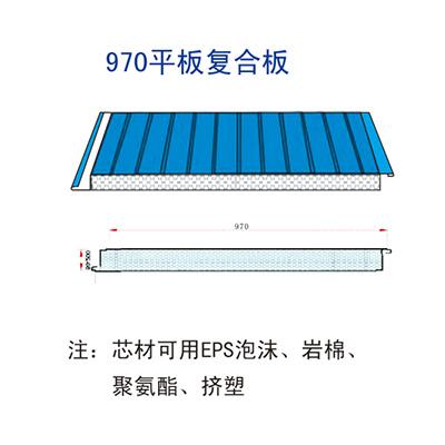 970 flat composite board