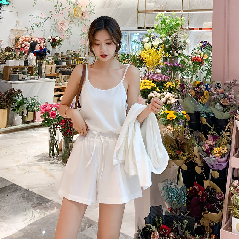 Leisure fashion foreign-style chiffon three-piece set