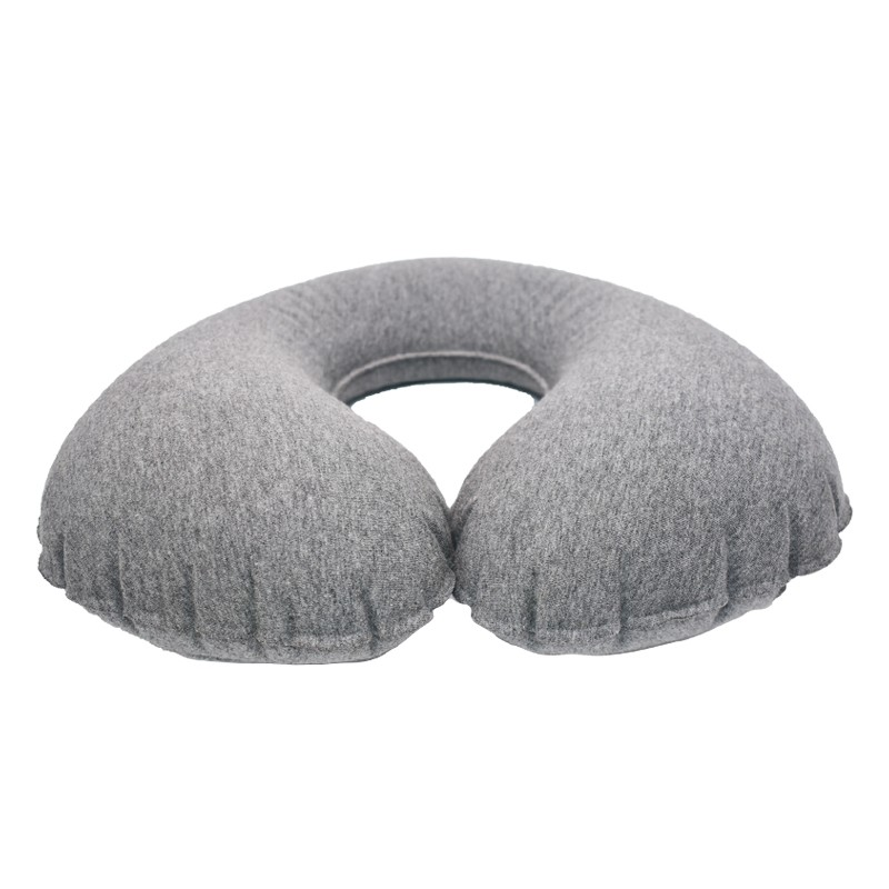 Press valve inflatable pillow