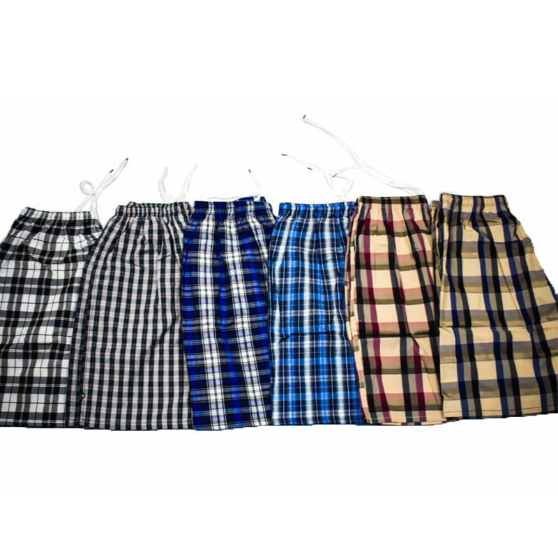 男式格子沙滩裤