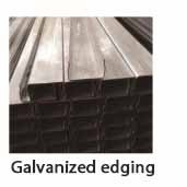 Galvanized edging