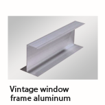 Vintage window frame aluminum