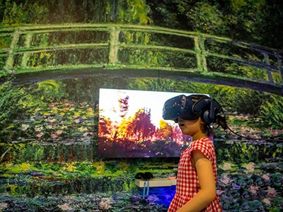 Come to guangzhou 53 art museum, VR takes you into the world of monet