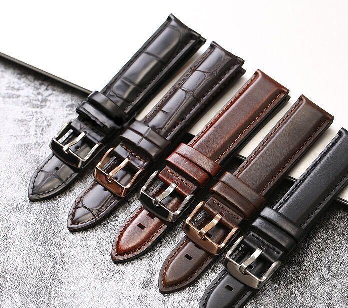 真皮表带厂家直销男士DW表带真皮表带手表配件批发瑞士手表表带