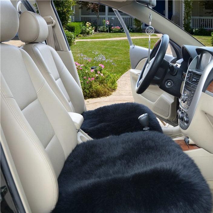 厂家直销 冬季汽车羊毛坐垫 纯羊毛汽车毛垫无靠背方座垫新款单片