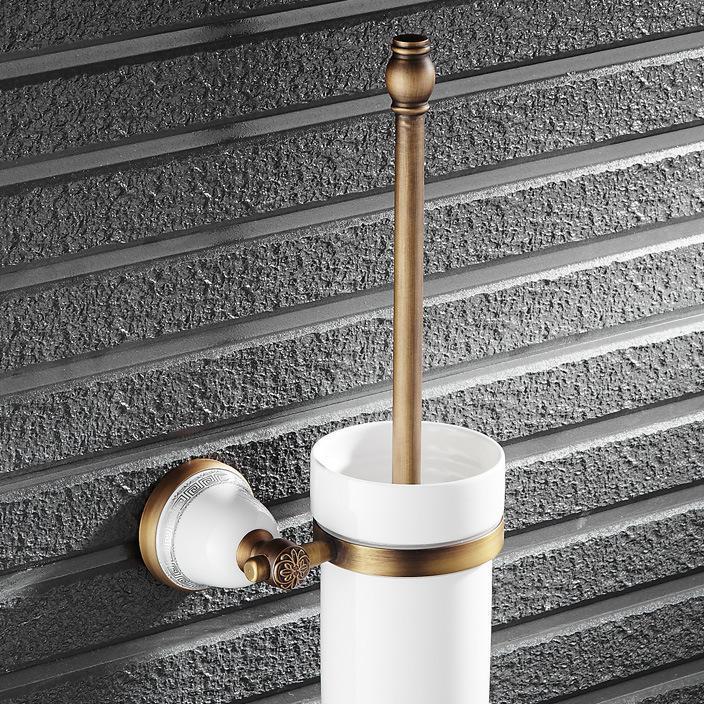 欧式新款古铜拉丝马桶刷架洁厕刷头卫生间厨卫挂件五金厂家批发价