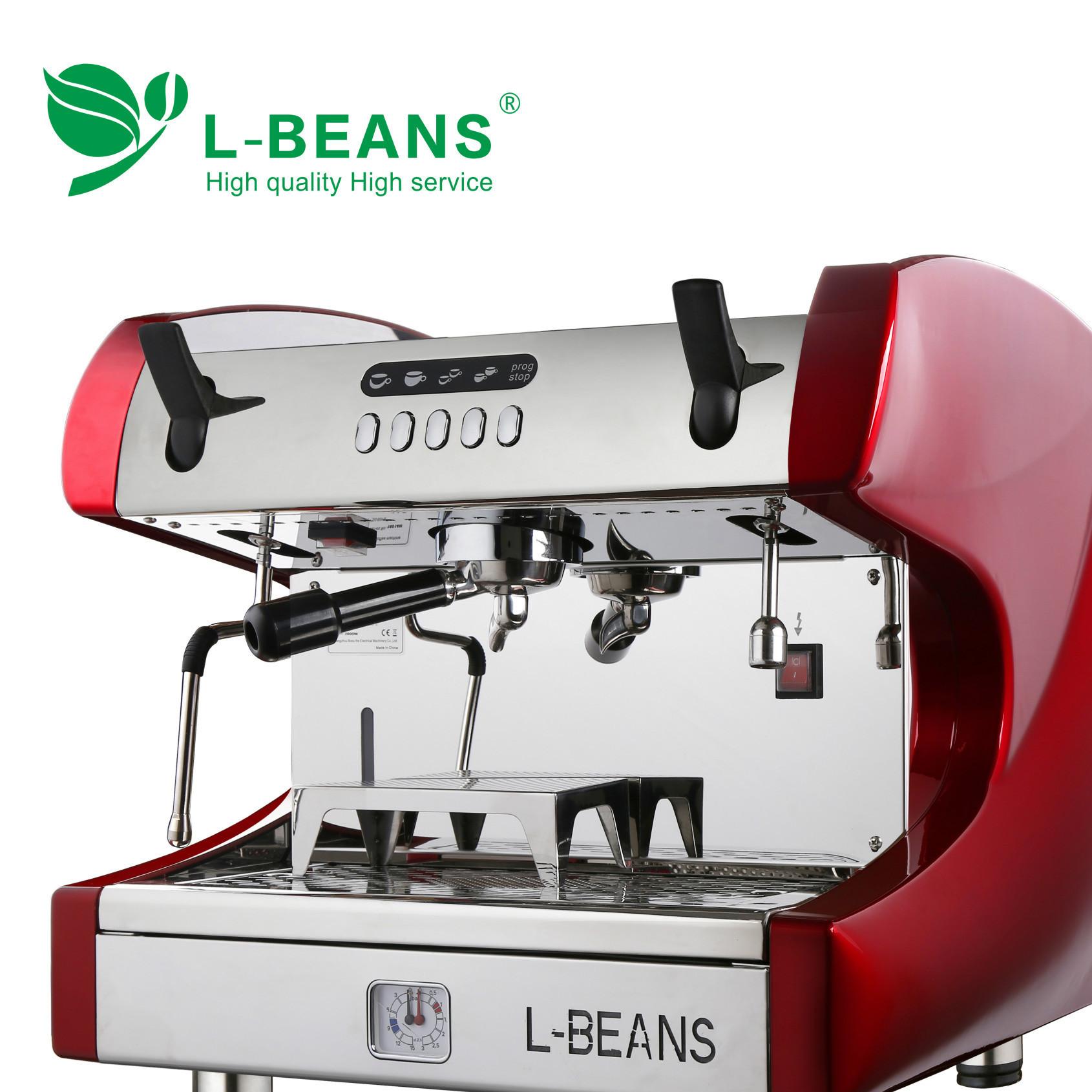 L-BEANS玛莎拉蒂商用半自动咖啡机 双头意式半自动咖啡机高杯版