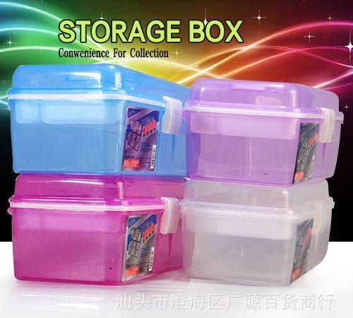 Jianhua medium double-deck storage box portable art box medical box storage box gouache painting box