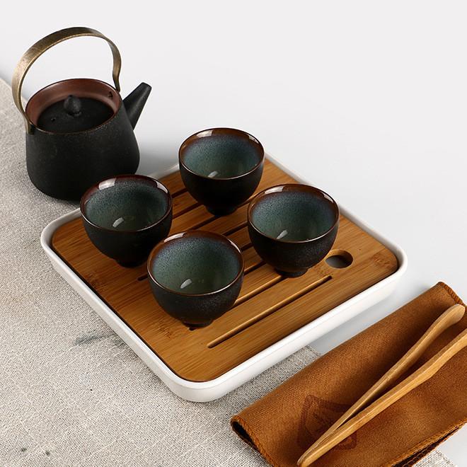 2019新款旅行茶具礼盒套装 一壶四杯茶具礼品定制创意茶具批发