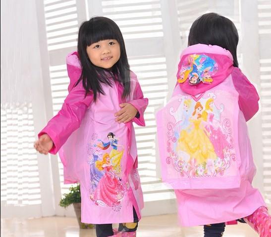直销带书包位儿童雨衣 充气帽檐儿童雨披宝宝 中小学生雨衣