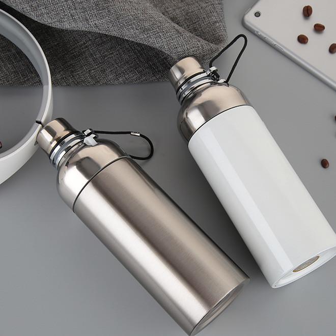 真空不锈钢户外保温壶热转印涂层便捷式水壶LOGO印花定制