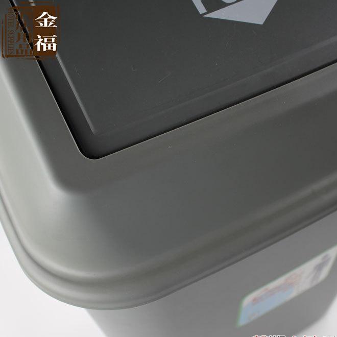 新型带压圈厨房卫生间家用垃圾桶 客厅办公室塑料纸篓 大小号可选