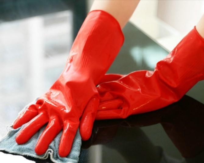 加厚乳胶手套 家用洗碗洗衣乳胶橡胶手套 80G 家务清洁手套