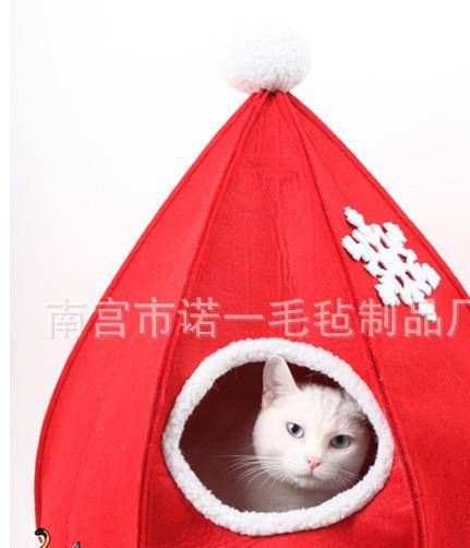 厂家批发 可爱毛毡宠物窝制品 舒适透气毛毡制品 毛毡宠物用品