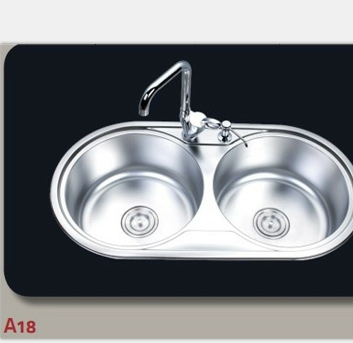 Manufacturers direct wholesale supply of high quality stainless steel lavabo sink circular trough double basin