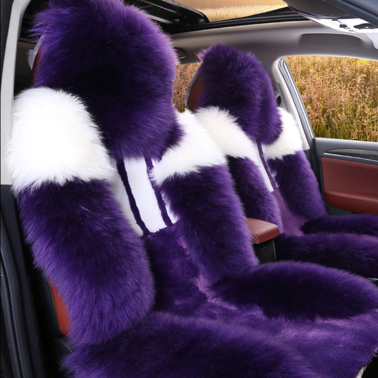 2019新款冬季羊毛汽车坐垫 高低毛刻花羊毛坐垫 汽车毛垫厂家批发