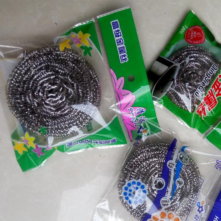 钢丝球清洁球不生锈不掉渣刷锅刷碗日用品单个装一元店摆摊用品