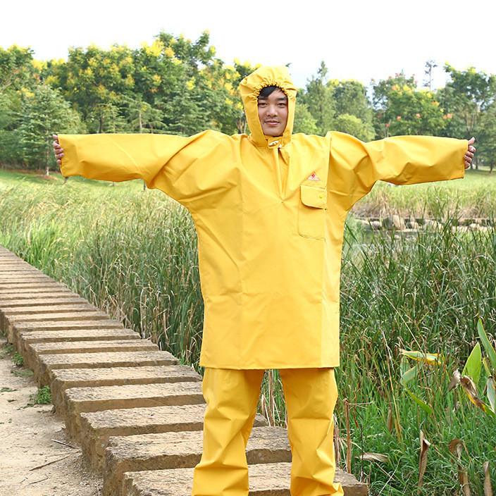 东鱼牌PVC夹网布062套装钓鱼雨衣雨裤捕鱼服抓鱼服 厂家直销订制