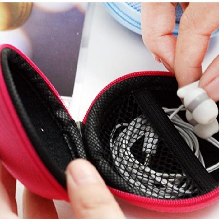 韩版抗压耳机收纳盒 时尚耳机包 耳环项链收纳包批发