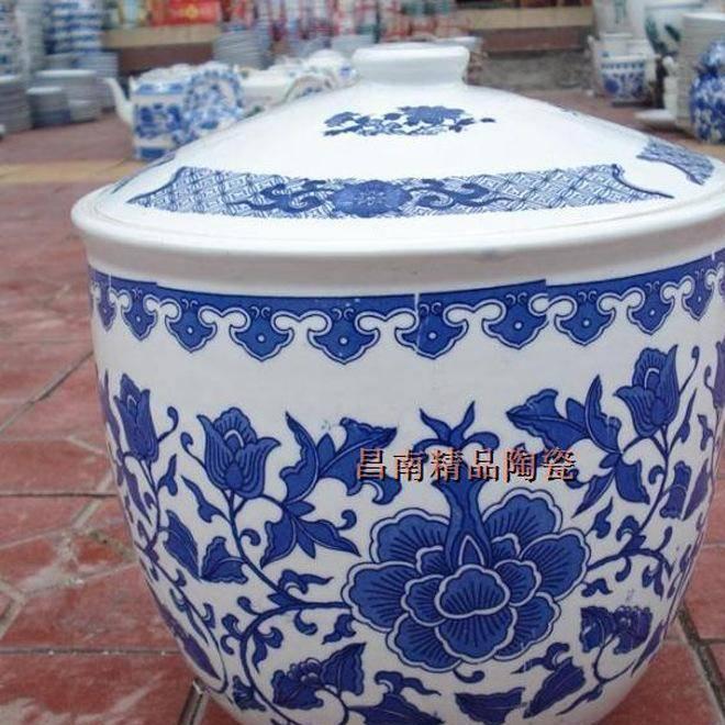 景德镇青花陶瓷米罐酒糟坛油坛淹肉坛储物罐超市酱菜缸