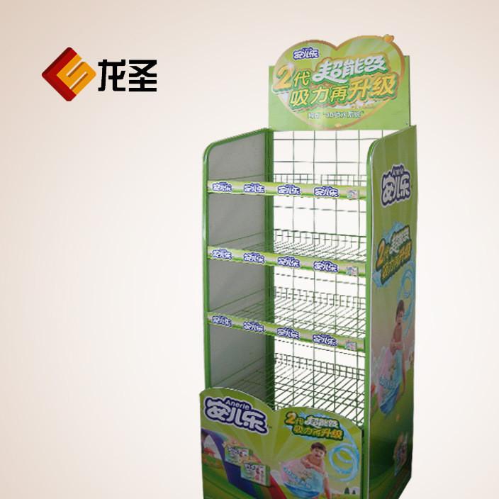 安尔乐儿童纸尿裤展架 商品展示架 组装金属货架展示架厂家直销