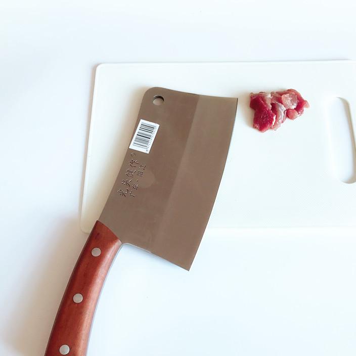 光头健作斩骨刀 手工锻打砍骨剁骨斩切两用刀 阳江厨房不锈钢菜刀