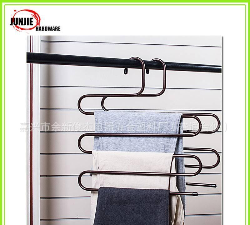 多功能铁质裤架衣架浴室五金厨卫挂件收纳架子防滑防水防锈