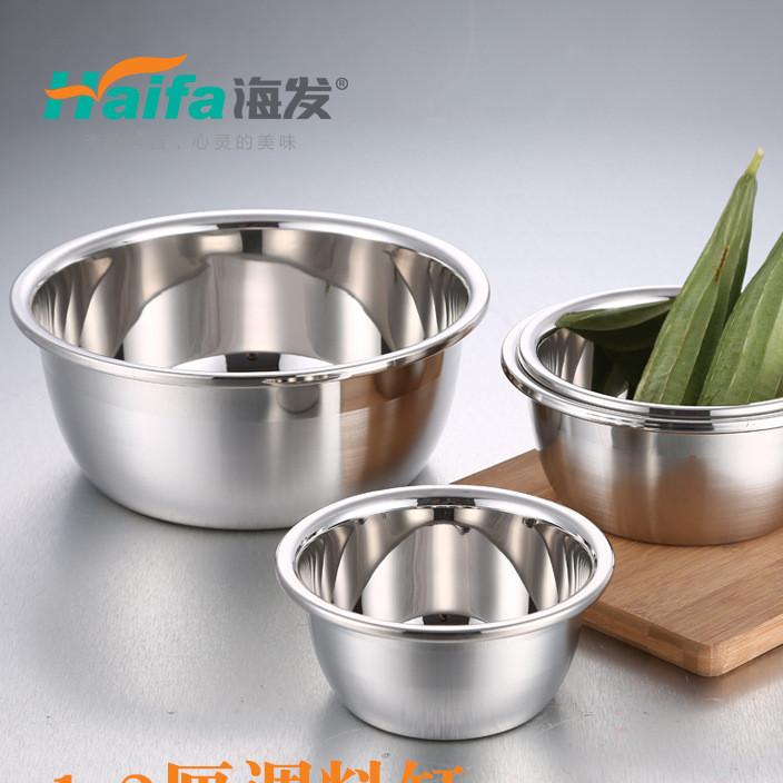 厂家批发 1.2厘无磁不锈钢盆特厚调料缸汤盆 酒店家庭多用大面盆