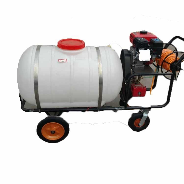 Garden spraying machine insecticidal spraying machine sterilizing spraying machine gasoline spraying sprayer hand push type four-wheel spraying spraying machine, grass spraying machine garden sprayer