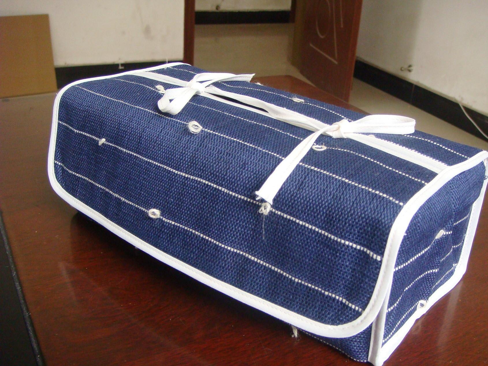 All handmade ramie fabric weaving summer cloth art Japanese paper towel box original design manufacturers direct
