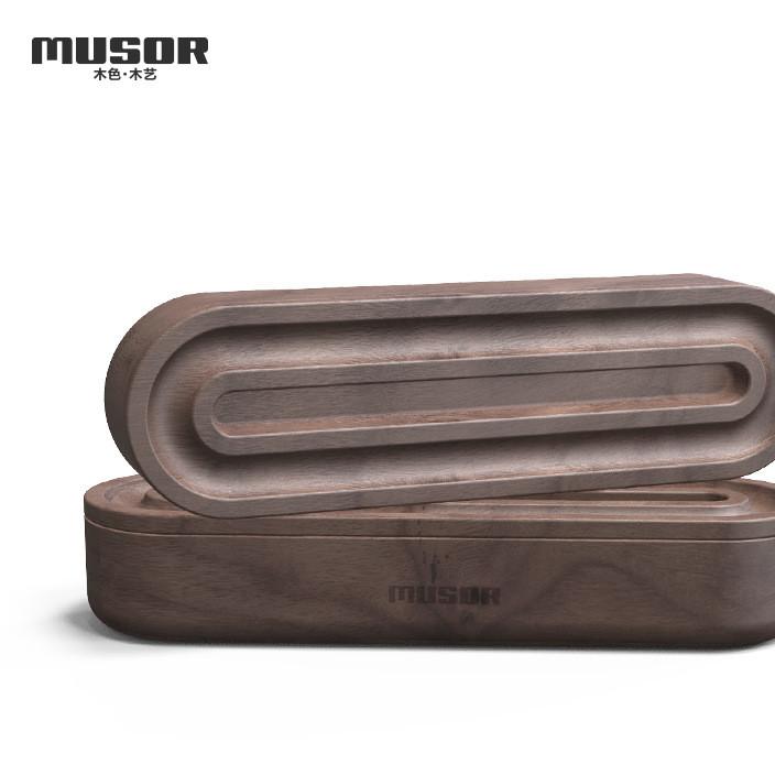 木色木艺Musor 创意笔盒 个性木质文具盒 眼镜盒 厂家直销